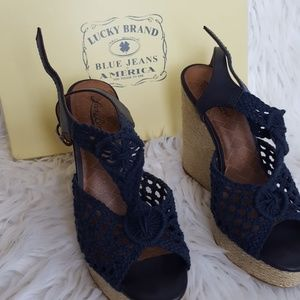 Blue Lucky Brand Wedges